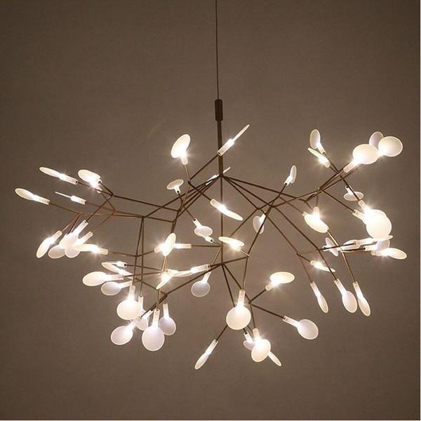 Großhandel Kreative Kunst Designer LED Kronleuchter Luxus Baum Blatt  Moderne Pendelleuchten Deco Kronleuchter Für Esszimmer Haus Schlafzimmer  Von ...