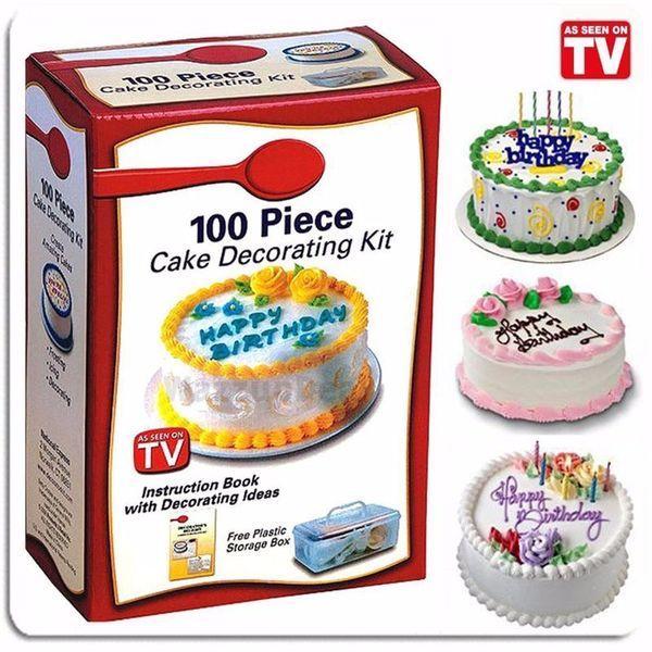 HOT 100 Piece DIY Plastic Cake Cupcake Decorating Kit Set Sugarcraft Cooking ZX034