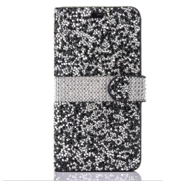 아이폰 8 갤럭시 ON5 아이폰 6 케이스에 대 한 패션 다이아몬드 케이스 LG K7 Styling Bling 케이스 크리스탈 PU 가죽 카드 슬롯 Opp 가방