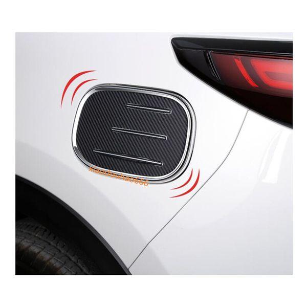 Pour Mazda CX-5 CX5 2nd Gen 2017 2018 voiture Gaz / Carburant / Huile Couvercle De Réservoir Cap autocollant style ABS Chrome auto pièce Garniture 1 pcs