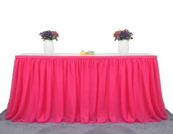 183 X 77 cm Tulle Tissu De Jupe Pour La Fête De Mariage Décoration Décoration Fête D'anniversaire / Douche De Bébé En Mousseline De Soie Gaze Bridal Veil