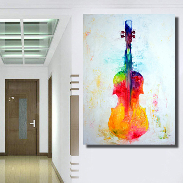 1 Pcs Abstract Modern Wall Painting A depicting the violin Oil Painting On Canvas Wall Decor Home Decoration