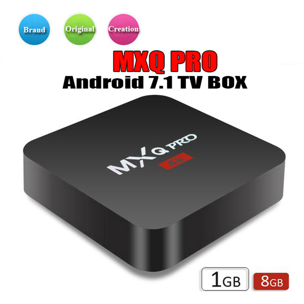 Venta de fábrica OEM MX2 MXQ PRO 4K RK3229 Quad Core Android 7.1 TV CAJA con 17.5 4K Reproductor de medios personalizado