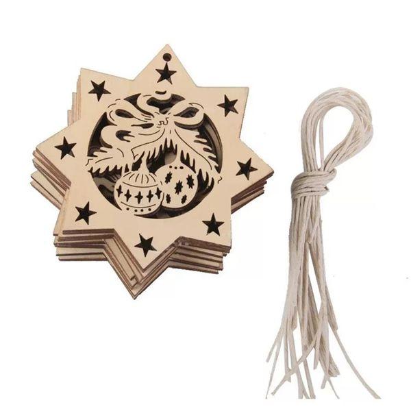 20 pcs laser cut wood crafts christmas decoration