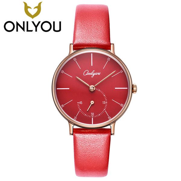 f3cda3dcdcc7 ONLYOU топ повседневные женские часы мода маленькие секунды дизайн  кварцевые часы дамы простой наручные часы четыре цвета, чтобы выбрать часы  Y1890304