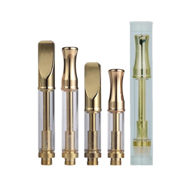 Top vente couleur or Pyrex cartouche 92A3 jetable vape cartouches atomiseur double bobine ajustement O stylo Evod batterie ecig