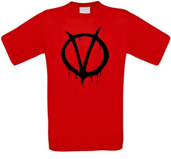 V wie Vendetta V wie Vendetta Guy Fawkes Kultfilm T-Shirt alle Größen NEU