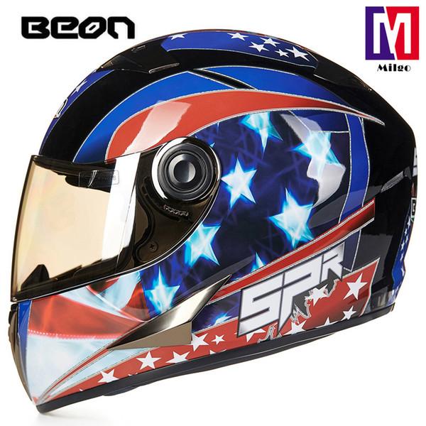 2018 BEON B-500 New designed full face motorcycle helmet ECE certificated off road fashiion dirt bike decals helmet