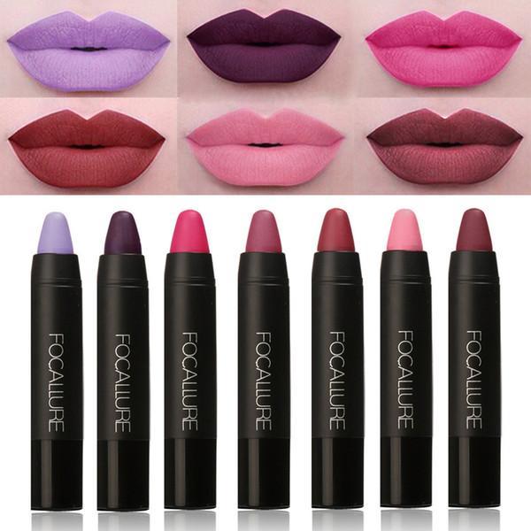 New 2017 Makeup Matt Sexy Lips Color Cosmetics Pigment Nude Red Waterproof long lasting Focallure Matte Lipstick Pencil