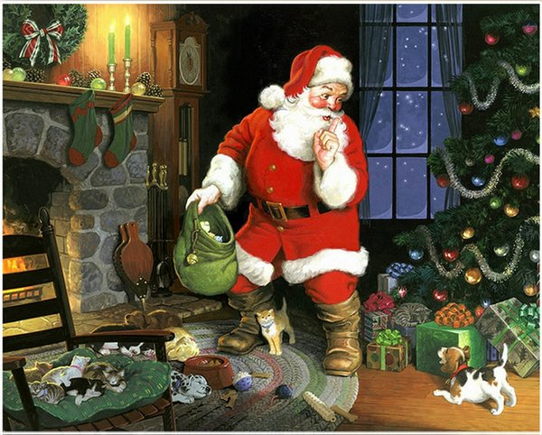 Satin Al Elmas Diy 5d Elmas Yeni Full Dairesel Boyama Noel Baba