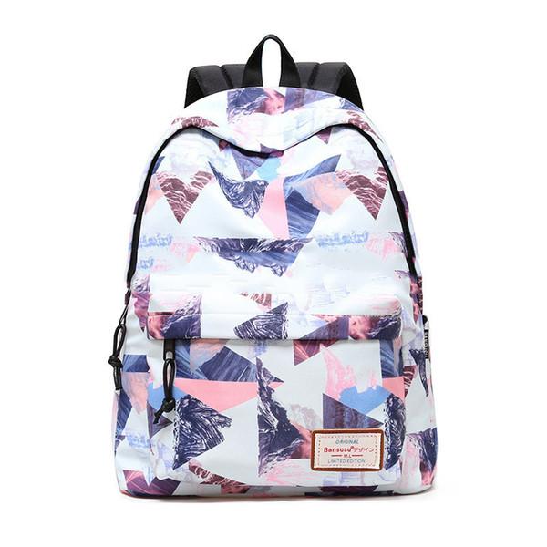 Women Backpack for School Teenagers Girls Stylish Ladies Bag Backpack Female Printing High Quality Rucksack Schoolbag Y18110202