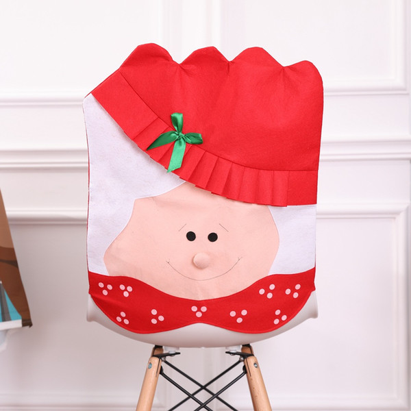 Lovely Christmas articles for use Chair Covers Ornaments Mr & Mrs Santa Claus Christmas Decoration Free shipping!PQ