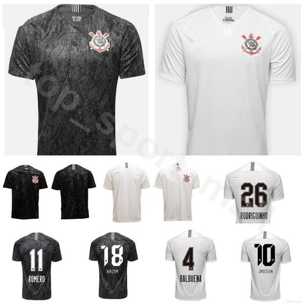 18 19 Season FC Corinthian Paulista Jersey Men Soccer 4 BALBUENA 10 JADSON 25 CLAYSON 26 RODRIGUINHO 11 ROMERO Football Shirt Kit