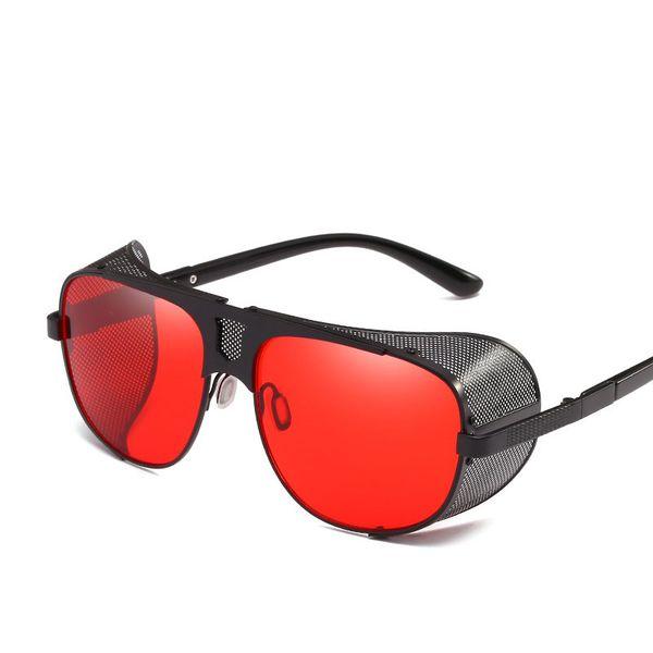 New style Fashion Metal Thick Edge Hollow Steam Punk Men Sun Glasses Women Gradient Sun Glasses Oculos UV400