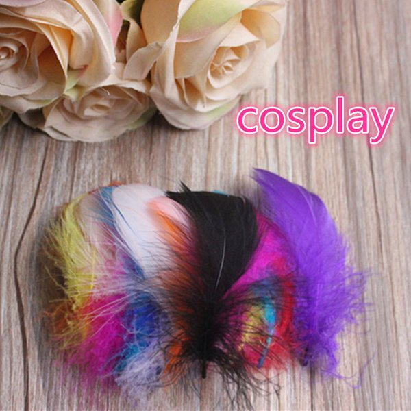 goose feather plumes for wedding hat hair accessories craft making Party decoration feathers 100pcs/set