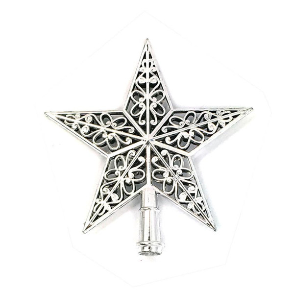 New Pattern Christmas Tree Top Sparkle Stars Hang Xmas Decoration Ornament Treetop Topper Home Navidad Decoration Accessories