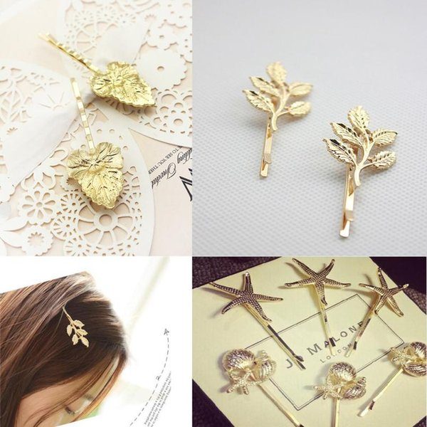 New 1PC Fashion Alloy Wedding Olive Branches Leaves Beautiful Bride Hairpin Side Folder Jewelry Hair Accessories Tool se5