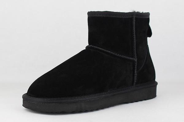 2017 Venta Caliente Boost Australiano Mujeres Botas de Nieve 100% Botines de Cuero de Vaca de Cuero Genuino Botas de Invierno Cálido Zapatos de Mujer