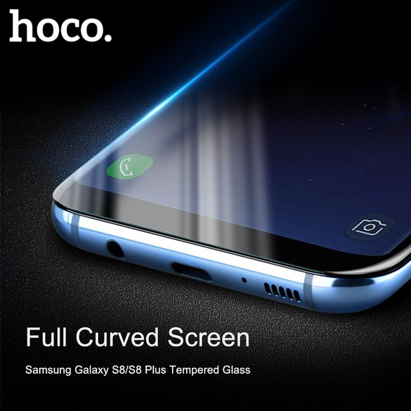 HOCO Tempered Protective Glass Protector Curved Edges Full Covered Touch Screen Protection for Samsung Galaxy S8 PLUS Note 8