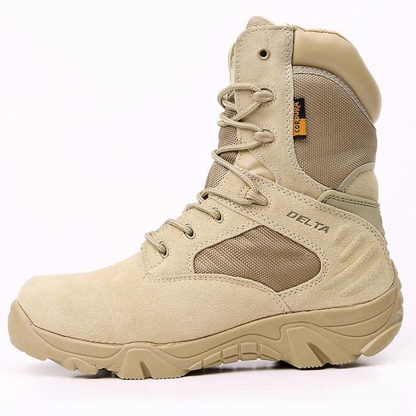 2016 Black Winter Hommes Outdoor Delta Bottes Tactiques Forces Spéciales High-help Desert Botas Sécurité Travail Randonnée Chaussures 39-45