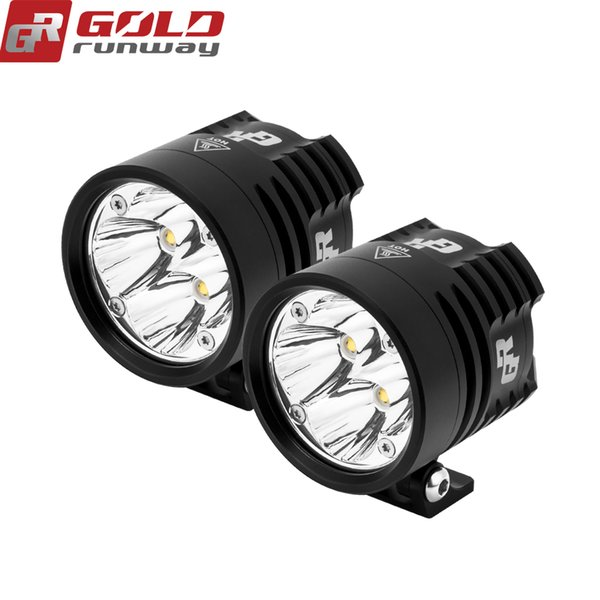 GOLDRUNWAY GR EXP4 Motorcycle 24W Universal LED Auxiliary Fog Lamp Lights Assembly Universal Spot Bicycle Off Road ATV 4WD