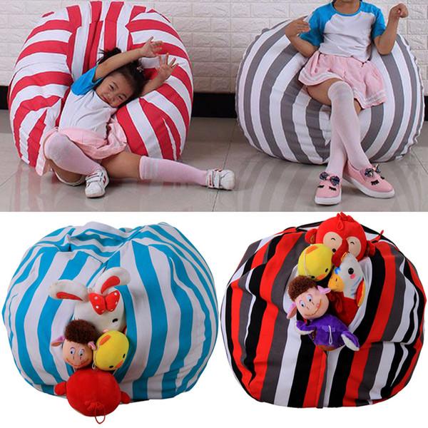 Modern Creative Storage Stuffed Animal Storage Bean Bag Chair Portable Kids Toy Bag & Play Mat Clothes Organizer Tool