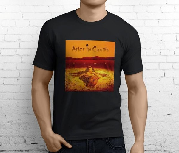 ALICE IN CHAINS DIRT Rock Band Men's Black T-Shirt Size S-3XL Mens 2018 fashion Brand T Shirt O-Neck 100%cotton T-Shirt Tops Tee