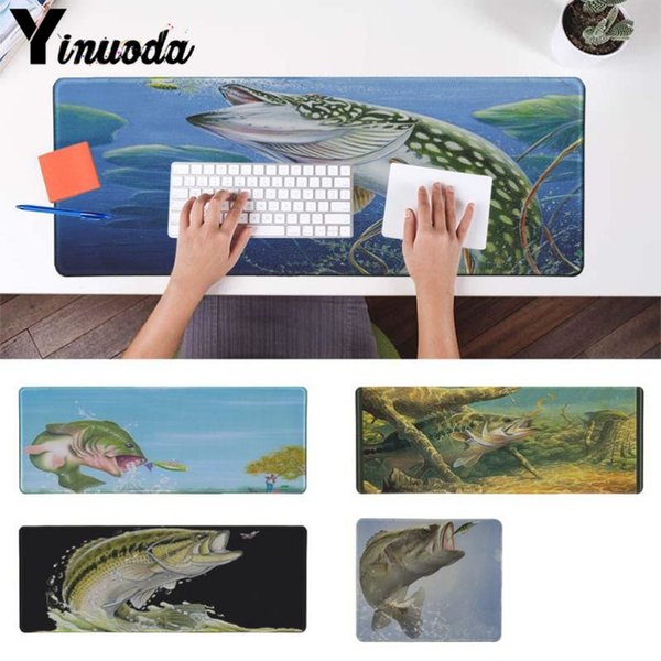 Yinuoda New Design Bass Fishing Fish Gear High Speed New Mousepad Size for 18x22cm 20x25cm 25x29cm 30x90cm 40x90cm