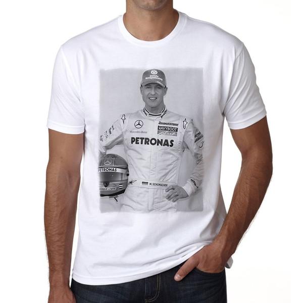 Michael Schumacher 1 camiseta Herren Impresso Manga Curta Dos Homens O-pescoço Verão Stree Twear