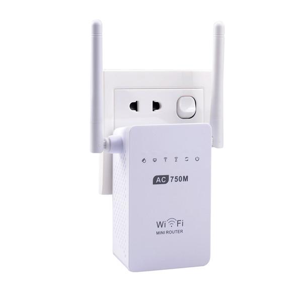 AC750 Routeur Wi-Fi Extender Gigabit Dual Band Routeur WiFi AP Booster 2 Antennes externes 750Mbps 2.4G / 5G pour tous les routeurs