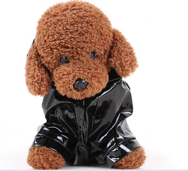 Hundebekleidung Frühling und Sommer Kleidung PU Reflektierende Haustier Regenmäntel Hund mit Kapuze Wetterfeste Kleidung Wasserdichtes Gewebe Atmungsaktiv Erfrischend