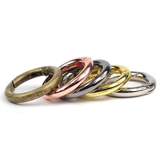 25 mm 28 mm oro plata 5 colores Llaveros de metal hebilla para llaveros accesorios envío rápido jc-036