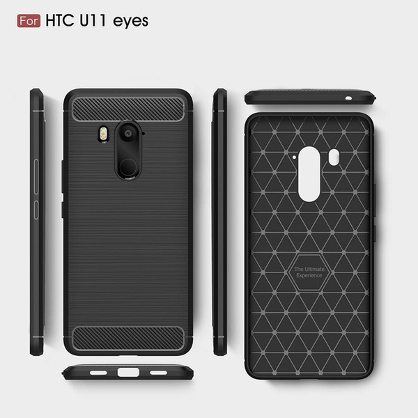 2018 New CellPhone Cases For HTC U11 Plus Carbon Fiber heavy duty case for HTC U11 eyes U11 life cover Free shipping