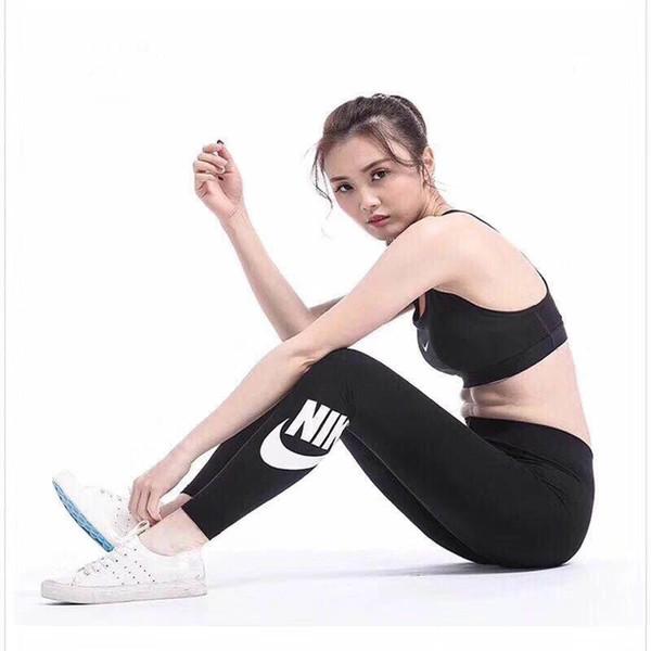 adi Passamontagna Dettaglio Contrasto Pannello Leggings 2018 Donna Nuovo arrivo Colorblock Bottoms Nero Elastico Leggings casual Pantaloni a trifoglio fitness