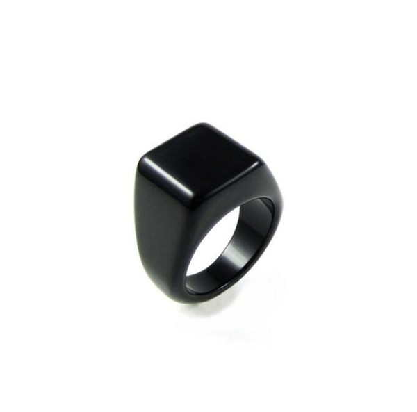 Men's Black Onyx Rings influx of Korean personalized fashion jewelry men ring tail ring for single men and women couple rings