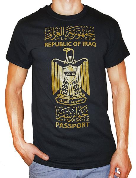 Descuento al por mayor Tee Shirt Hipster Harajuku marca ropa camiseta Spot15 hombres de la República de Iraq camiseta