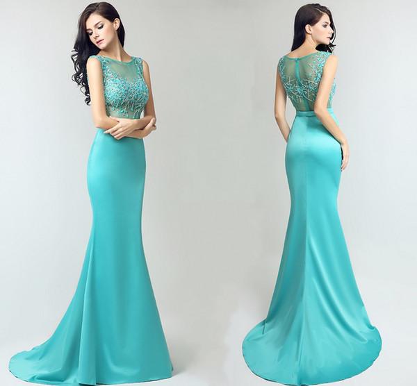 Neue High-End benutzerdefinierte Frühling und Sommer langen Schwanz formale Abendkleider Rundhals handgemachte Pintail Fishtail Prom Kleider DH040