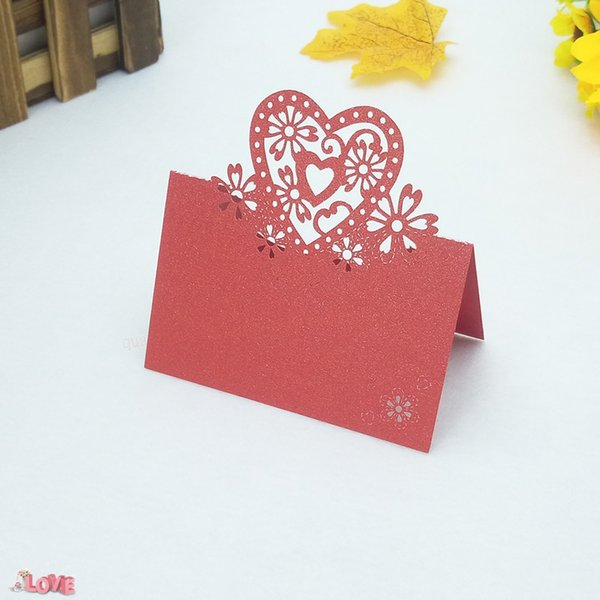 100Pcs Table Cards Laser Cut Seat For Wedding Party Favors Decoration Name Place Love