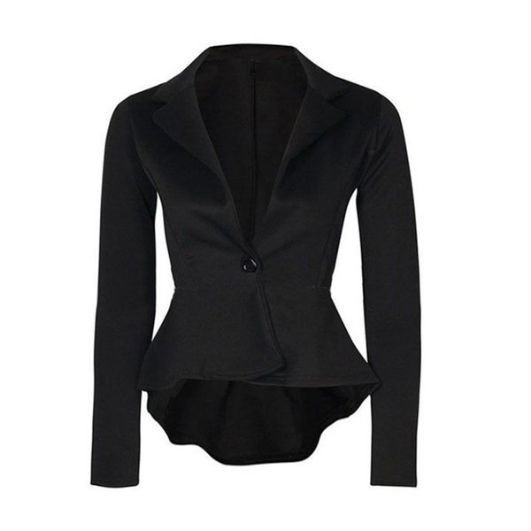 KANCOOLD coats Blazers Ladies Crop Frill Shift Slim Blazer Jacket Fit Peplum Causal coats and jackets women 2018JUL27