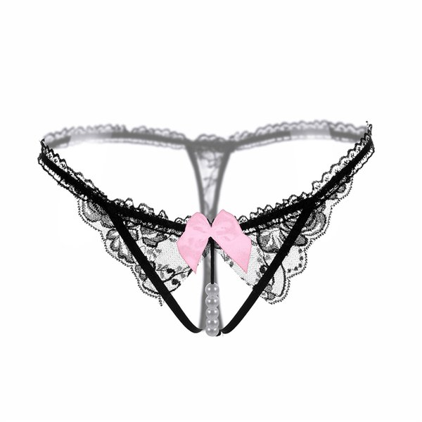7bea9fa71484 Sexy Women Erotic Lace G-String Thongs Bowknot Ultra-thin Low Waist Expose  Butt