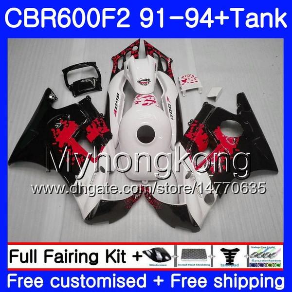Body Graffiti red For HONDA CBR 600F2 FS CBR600RR CBR600 F2 91 92 93 94 1MY.40 CBR600FS CBR 600 F2 CBR600F2 1991 1992 1993 1994 Fairing kit