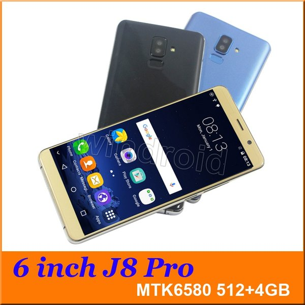 6 inch J8 PRO Quad Core MTK6580 Android 7.0 Smart phone 4GB Dual SIM camera 5MP 480*960 3G WCDMA Unlocked Mobile Gesture wake Free Case