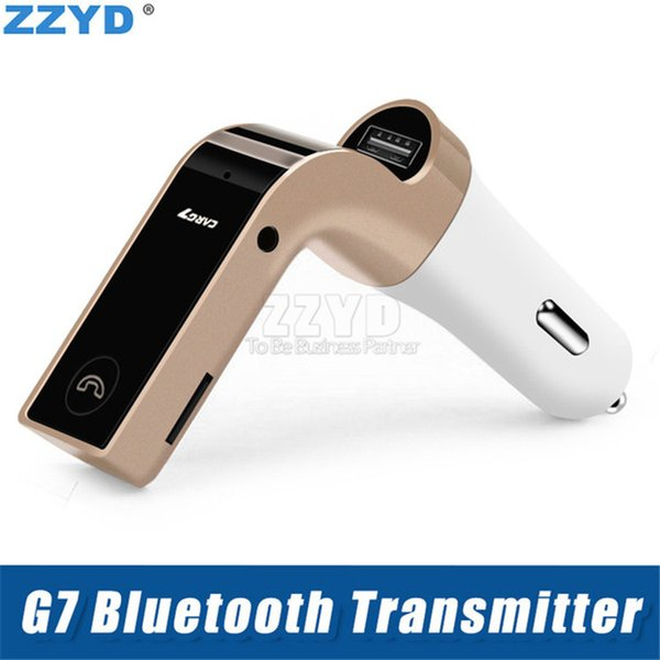 zzyd bluetooth car charger mic hands-fm transmitter with tf card usb mp3 wma music player tf usb charger
