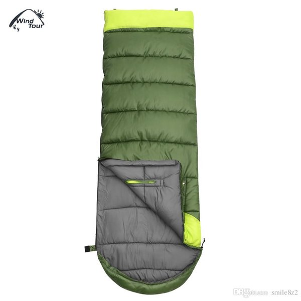 Sleeping Bags WIND TOUR Hand Unbound Thickening Envelope Style Sleeping Bag for Adults Sleeping Bags Lazy Bag +B