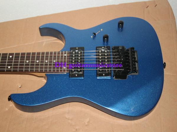 O envio gratuito de Alta Qualidade guitarra elétrica nova 7 cordas de Mogno na cor azul