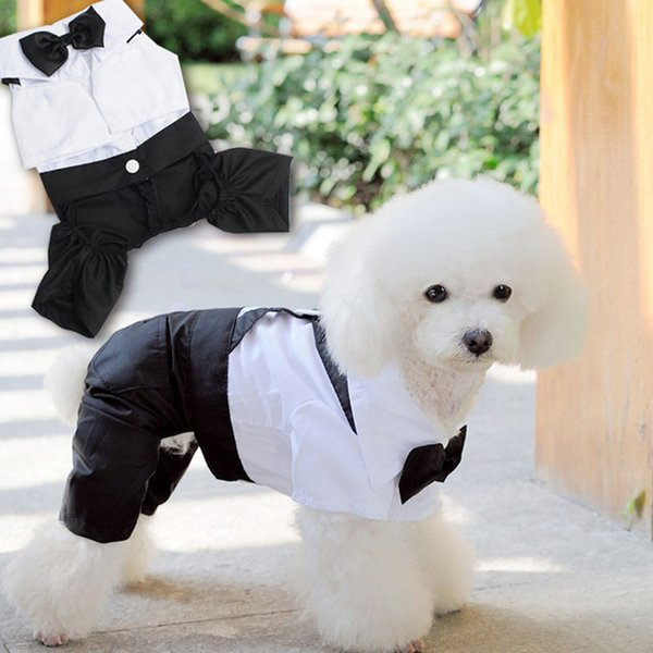 Handsome Pets Dog Suit Wedding Dress Clothes for Small Dogs Puppy Teddy Poodle Coat Pet Clothes Dog Accessories roupa cachorro