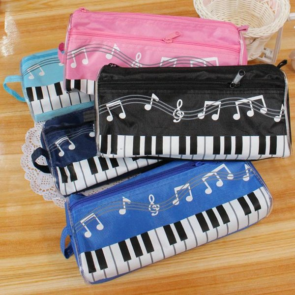 New lovely Musical Piano Keyboard Pencil Case Stationery Office School Supplies Music Pen bag Box Storage Bag School-supplies