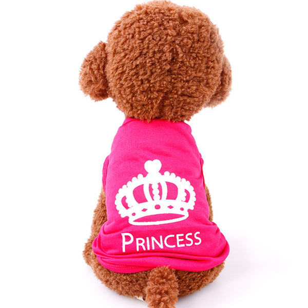 Hot Sale dog T shirt Pet clothing Dog Cat Cute Princess T-shirt Summer Clothes Vest Free Shipping