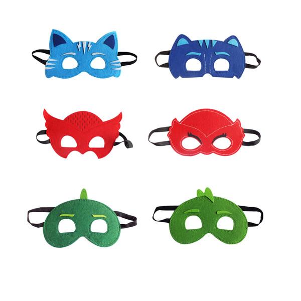 best selling 6 style PJ Masks mask for kids Masked pajama Conner Greg Amaya Mask Halloween Christmas costumes masquerade masks party favors gifts
