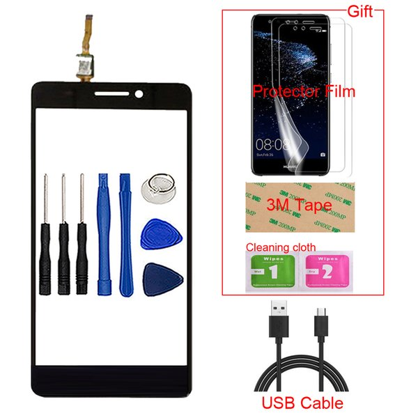 5.5'' TouchGlass Mobile Phone For Lenovo A7000 K3 Note K50-T5 Touch Screen Front Glass Digitizer Panel Lens Sensor Tools Gift